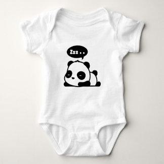 baby bodysuit with a cute sleepy panda
