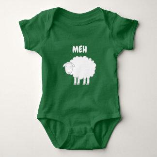 Baby bodysuit with cute sheep farm animal design