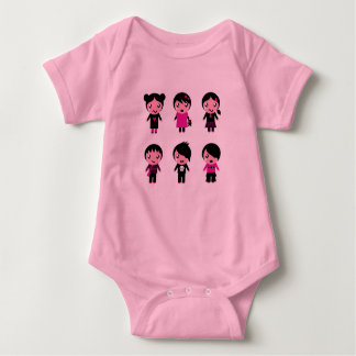 Baby bodysuit with Kids characters