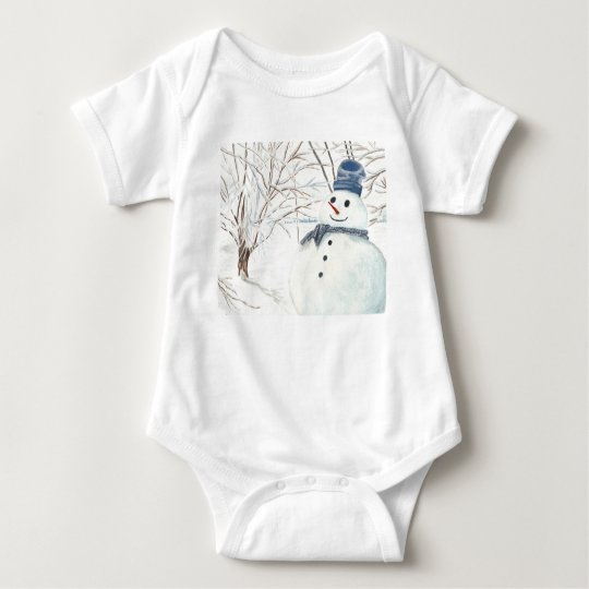 Baby Bodysuit with Snowmen on Pictures.