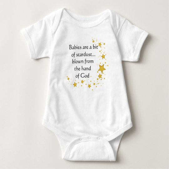 Baby Bodysuit with Stars Blown from Hand of