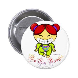 Baby Boogie - Happy Girl Pinback Button