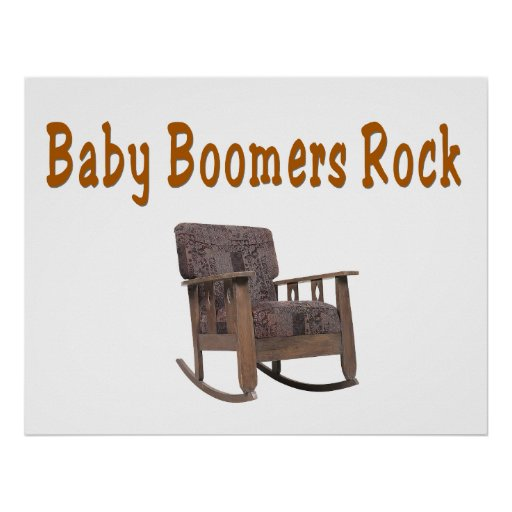 baby boomers rock poster