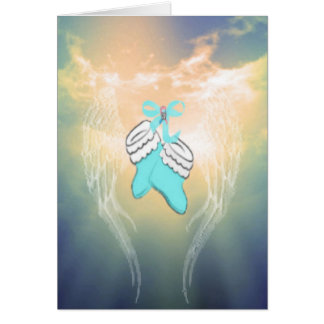 Baby Booties Blue Greeting Card