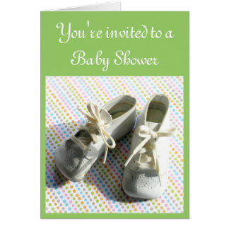 Baby booties shower invitation