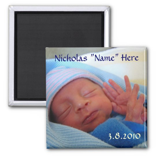 Baby born magnet New Baby Announcement gifts