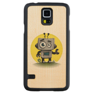 Baby Bot Carved Maple Galaxy S5 Case
