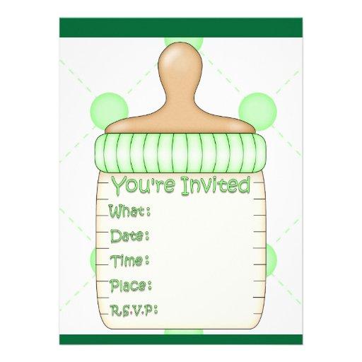 Baby Bottle Baby Shower for Girl or Boy Custom Invite