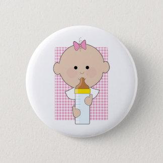 Baby Bottle Girl 6 Cm Round Badge