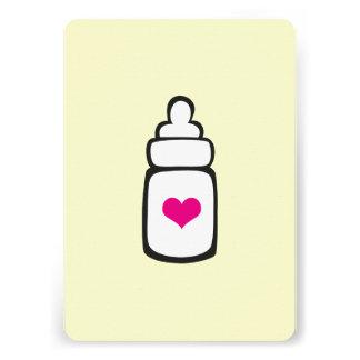 Baby bottle invite