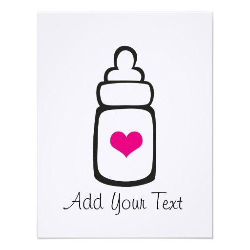 Baby bottle custom invite
