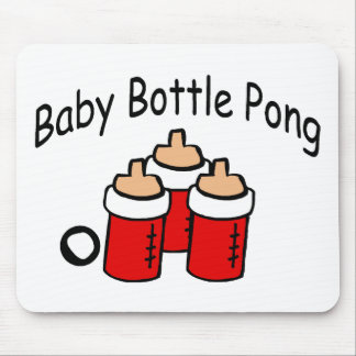 Baby Bottle Pong Mouse Pad