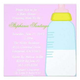 Baby bottle shower inivitation personalized invitations