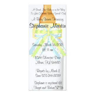 "Baby Bottle Shower Invitation 4"" X 9.25"" Invitation Card"