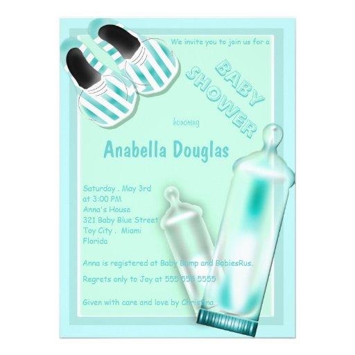 Baby Bottles Baby Shoe Baby Shower Invitations