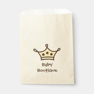 Baby Boutique Crown Logo Favour Bags