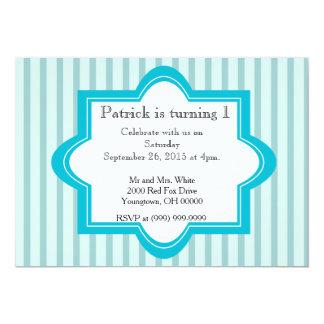 Baby Boy 1st birthday 13 Cm X 18 Cm Invitation Card
