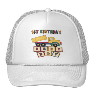 Baby Boy 1st Birthday Trucker Hat