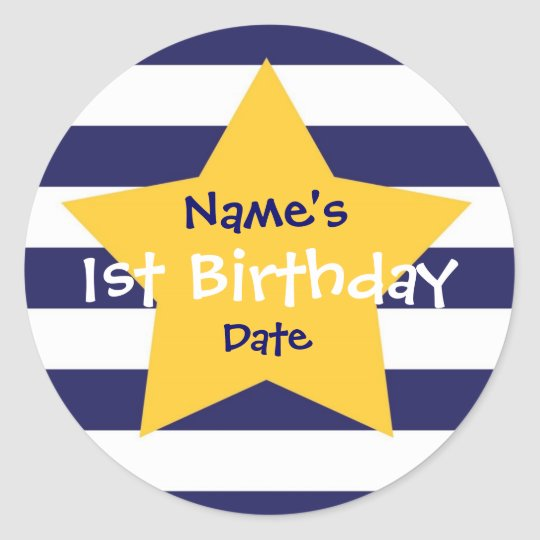 Baby Boy 1st Birthday Sticker