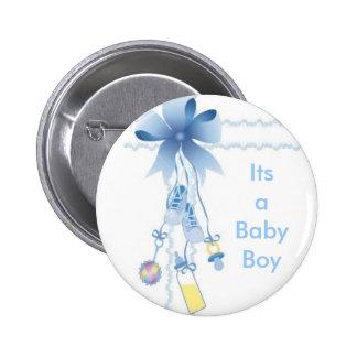 Baby Boy 6 Cm Round Badge
