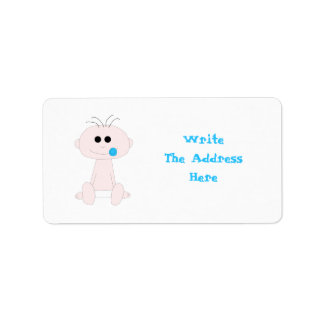 Baby Boy Address Label Template