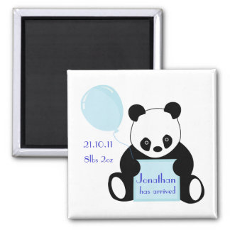 Baby boy arrival personalised name magnet