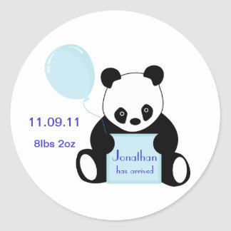 Baby boy arrival personalised name stickers