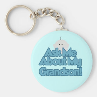 Baby Boy Ask About My Grandson Tshirts and Gifts Key Ring