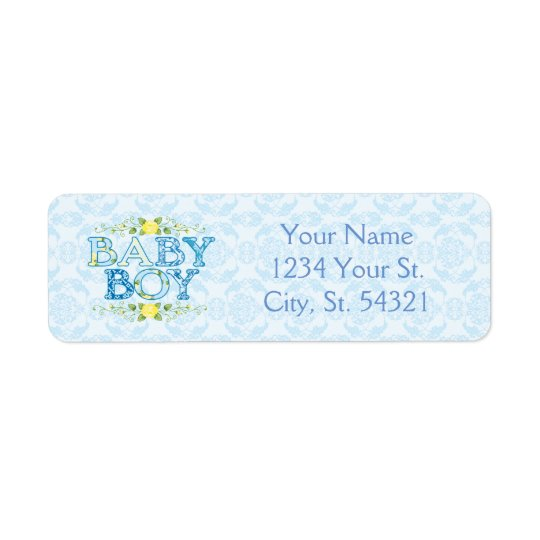 Baby Boy, Baby Shower Address Labels