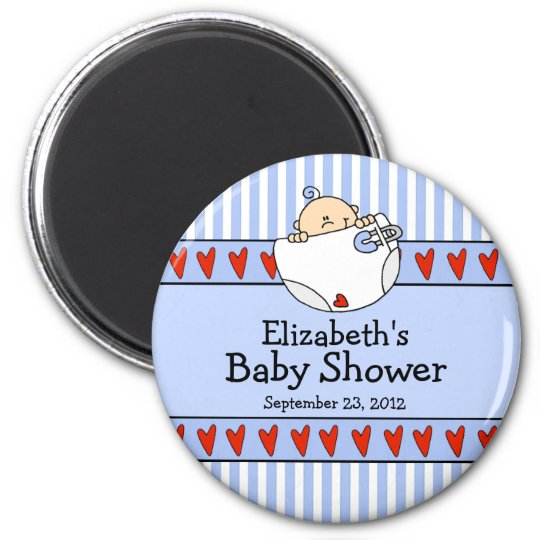 Baby Boy Baby Shower Favour Magnet