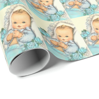 baby boy, BABY SHOWER gift wrap paper