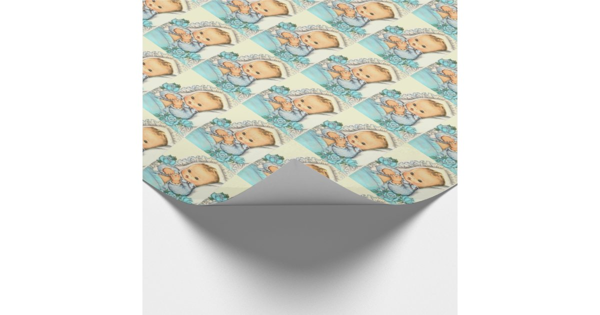 Gift Wrapped Baby Gifts Uk : Baby boy shower gift wrap paper wrapping zazzle