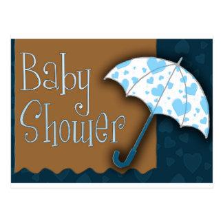 Baby boy baby shower postcard