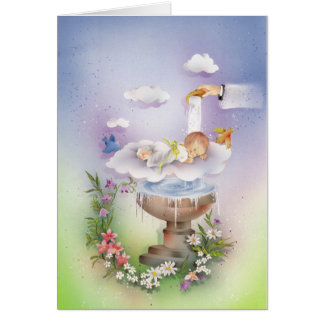 Baby boy baptism card