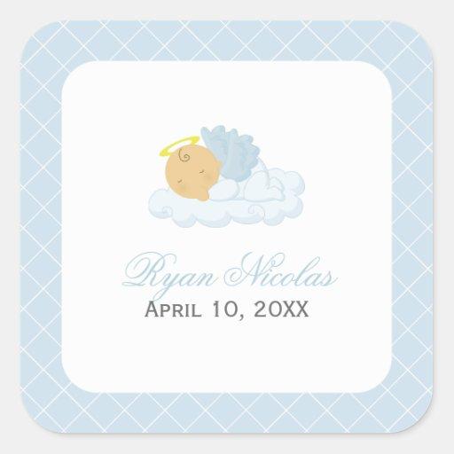 Baby Boy Baptism Stickers
