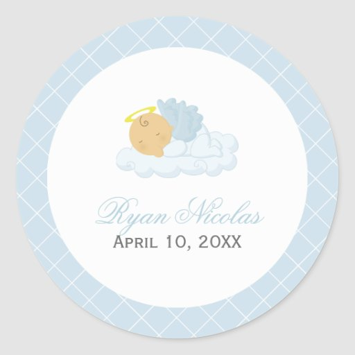 Baby Boy Baptism Sticker