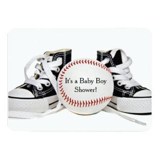 Baby Boy Baseball Shower 13 Cm X 18 Cm Invitation Card
