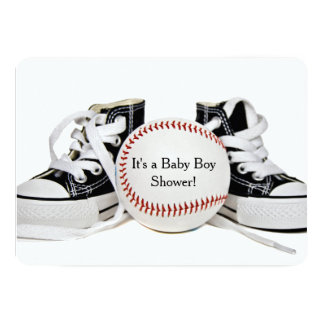 Baby Boy Baseball Shower Card