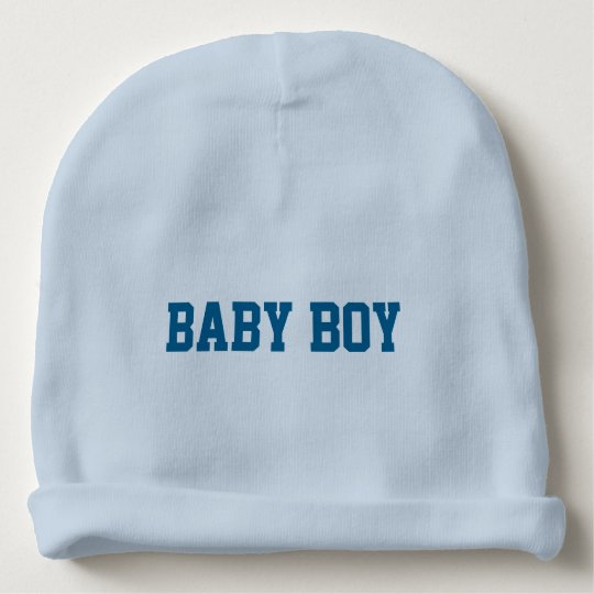 Baby Boy Beanie with Personalised Lettered Name Baby