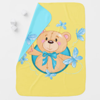 Baby Boy Bear Baby Blanket