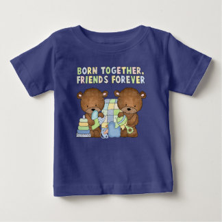 Baby boy Bears twins short sleeve t-shirt