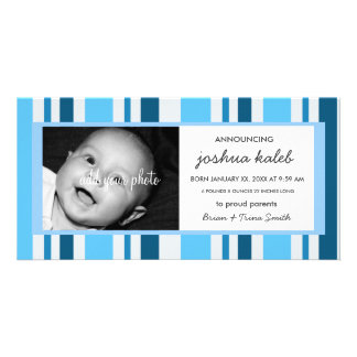BABY BOY BIRTH ANNOUNCEMENT PERSONALISED PHOTO CARD