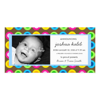 BABY BOY BIRTH ANNOUNCEMENT PERSONALIZED PHOTO CARD
