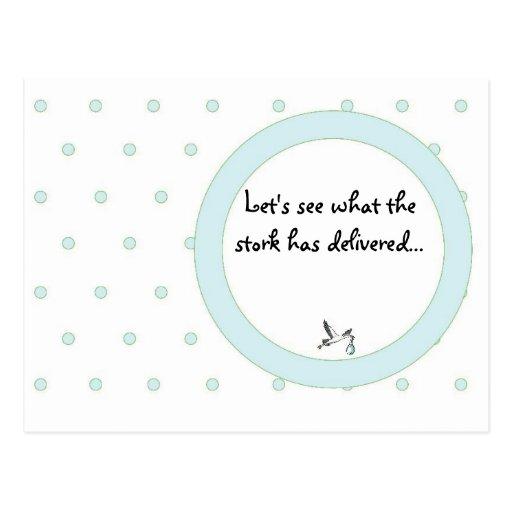 Baby Boy Birth Announcement Postcard