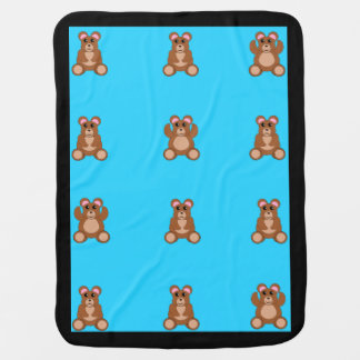 Baby boy blanket with teddy bears