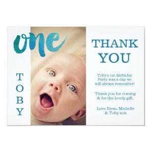 1st Birthday Thank You Cards Invitations Zazzlecouk