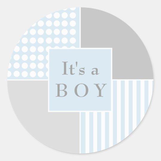 Baby Boy Blue Modern Sticker