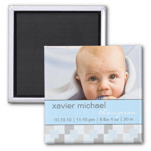 Baby Boy Blue Photo Magnet