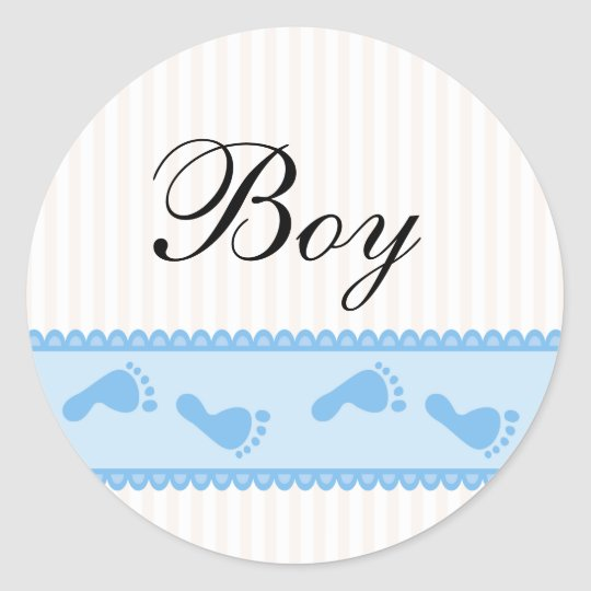 Baby boy blue stickers