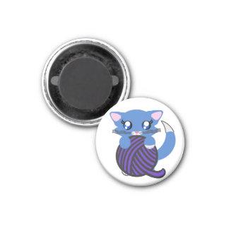 Baby Boy Blue Toon Kitten Skye Magnet